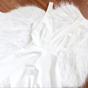 LuLu's White Criss-Cross Midi Dress